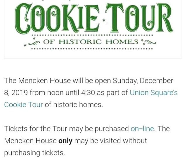 Cookie Tour Sign