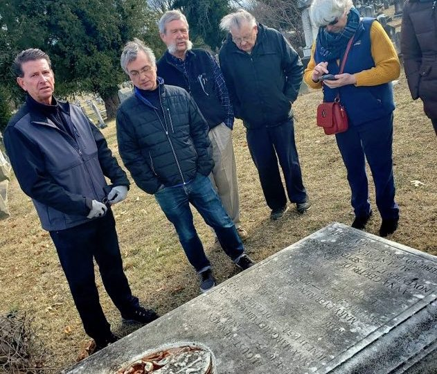 Group at grave 2